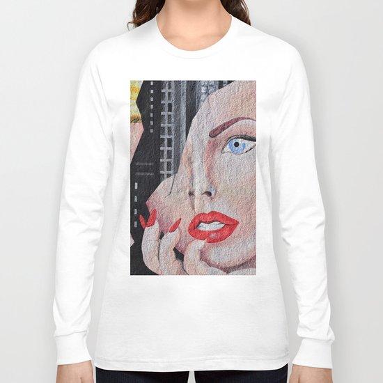 Face Woman Long Sleeve T-shirt