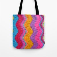 funky Tote Bags featuring Funky by Wild Daffodil