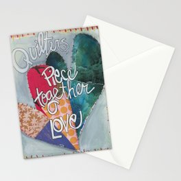 Quilters Piece Together Love Stationery Cards