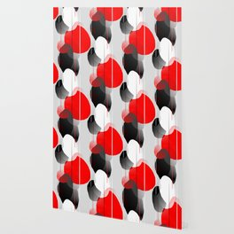 Modern Anxiety Abstract - Red, Black, Gray Wallpaper