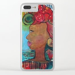 """Hope"" Original Painting by Krista J. Brock Clear iPhone Case"