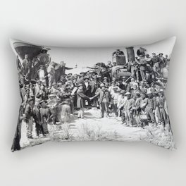 Driving the Golden Spike at Promontory Summit, Utah (May 10, 1869) Rectangular Pillow