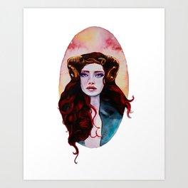Aries Watercolor Art Print
