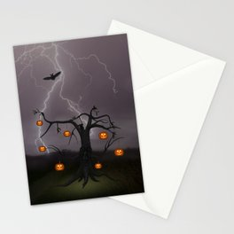 SCARY HALLOWEEN TREE Stationery Cards