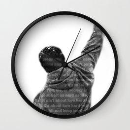 How Hard You Get Hit - Rocky Balboa Wall Clock