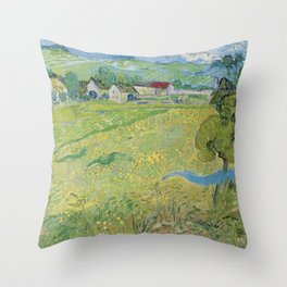 View of Vessenots Near Auvers by Vincent Van Gogh Throw Pillow