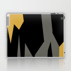 Black yellow and gray abstract Laptop & iPad Skin