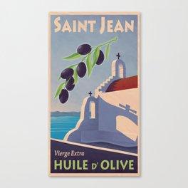 Saint Jean huile d'olive Canvas Print