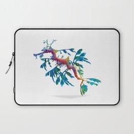 Geometric Abstract Weedy Sea Dragon Laptop Sleeve