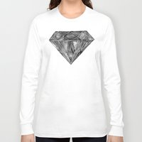 geode Long Sleeve T-shirts featuring Black Diamond by Cat Coquillette