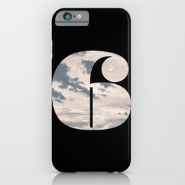Nr. 6 | Numbers with a View | Typography Letter Art iPhone Case