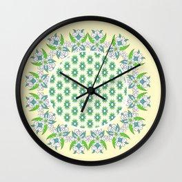 yellow Perisan tile Wall Clock