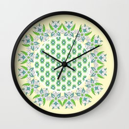 yellow Perisan tile Wall Clock