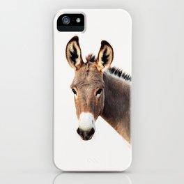 Gentle Wild Donkey portrait iPhone Case
