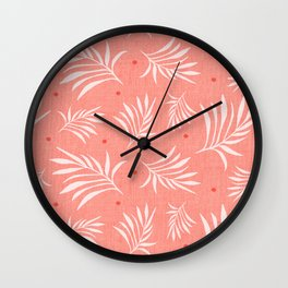 Island Breeze Living Coral Wall Clock