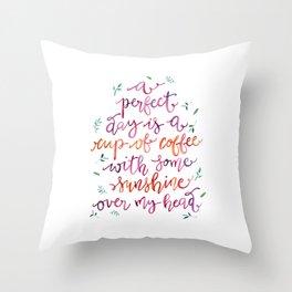 Coffee and Sunshine Throw Pillow
