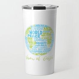 Vision of Earth - World Cloud Travel Mug