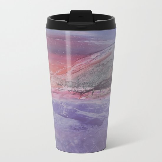 abstract composition with sunset Metal Travel Mug
