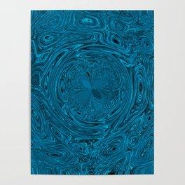 Aqua Blue Circles Poster
