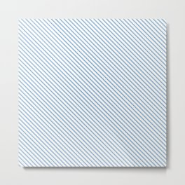 Airy Blue Stripe Metal Print
