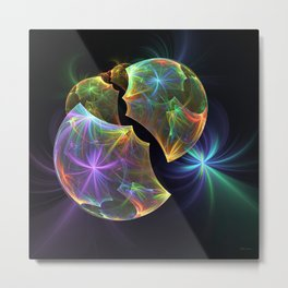 Fractal World Metal Print