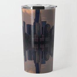 NYC skyline reflection Travel Mug