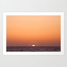 Sun on the Horizon, 2012 Art Print