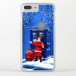 10th Doctor who Santa claus Clear iPhone Case