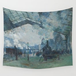 Claude Monet - Arrival of the Normandy Train Wall Tapestry