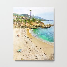 Laguna Beach Coast Metal Print