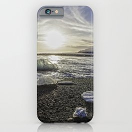 Jokulsarlon Lagoon Beach 06 iPhone Case