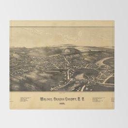 Aerial View of Walden, Orange County, New York (1887) Throw Blanket