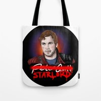 starlord Tote Bags featuring Peter Quill - StarLord by xKxDx
