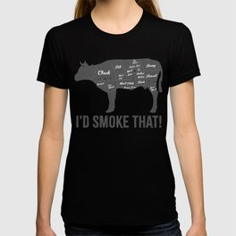 Cow I'd Smoke That BBQ Fathers Day T-shirt