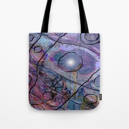 Maille bleue Tote Bag