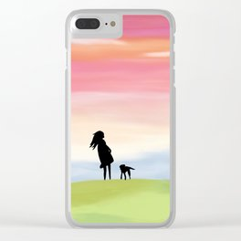 A Girl and Her Dog Clear iPhone Case