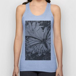 Monarch over Aster Unisex Tank Top