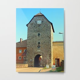 The historic tower of Haslach | architectural photography Metal Print