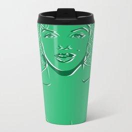Lady in Green Metal Travel Mug