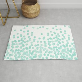 Scattered Glitter Dots in mint, green, pistachio, cool girly cute colors for trendy cell phone case Rug