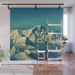Mount Everest and surrounding mountain range Wall Mural