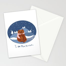 I am blue Persian. Stationery Cards