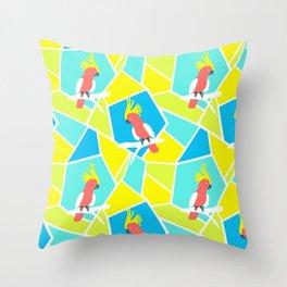 Bright Cockatoo Throw Pillow