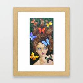Butterfly Faerie Framed Art Print