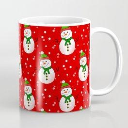 Snowman Pattern Red - Merry Christmas Coffee Mug