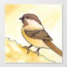 Yellow Black-capped Chickadee Canvas Print