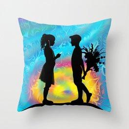 iLove u Throw Pillow