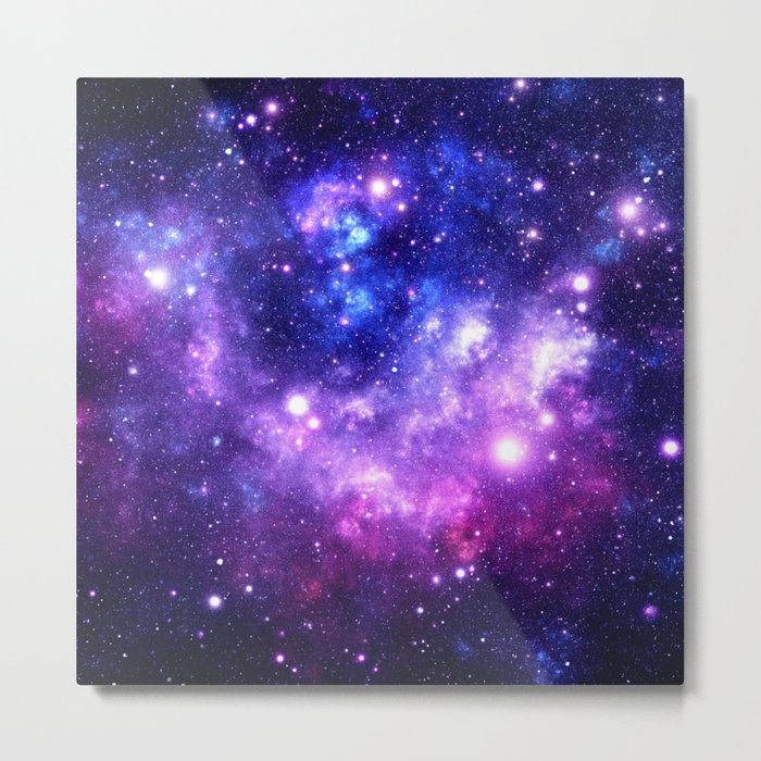 Purple Blue Galaxy Nebula Metal Print