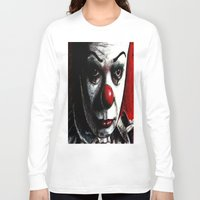 pennywise Long Sleeve T-shirts featuring Pennywise by Alycia Plank