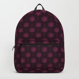 Festive Pink Snowflake Pattern Backpack
